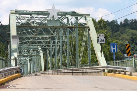 "Led by General Rufus Putnam in 1788, the first settlers to establish American Government in the Northwest Territory stopped to admire the West Newton Bridge, noting that it appeared to be ""a remarkably unstable piece of shit."""