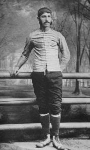 Above: Walter Camp, an early American football player who never wore a helmet, is largely considered a vagina by today's standards.